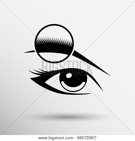 Human eye vector isolated eye eyebrow human vector female makeup beauty eyesight