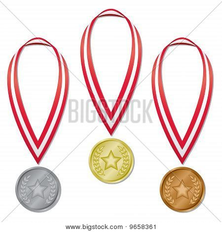 Medals - Star & Laurels