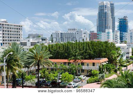 Miami Beach, Florida, US - May 17, 2015 - South Miami beach view