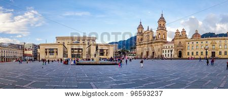 Primary Cathedral of Bogota, historic and religous landmark, located in Bolivar Square, Colombia