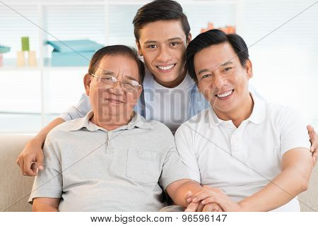 Grandfather, Father And Son