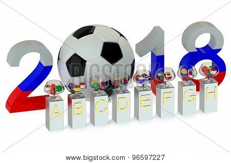 Coin tossing ceremony 2018 World Cup concept poster