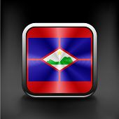 Sovereign state flag of dependent country of Sint Eustatius poster