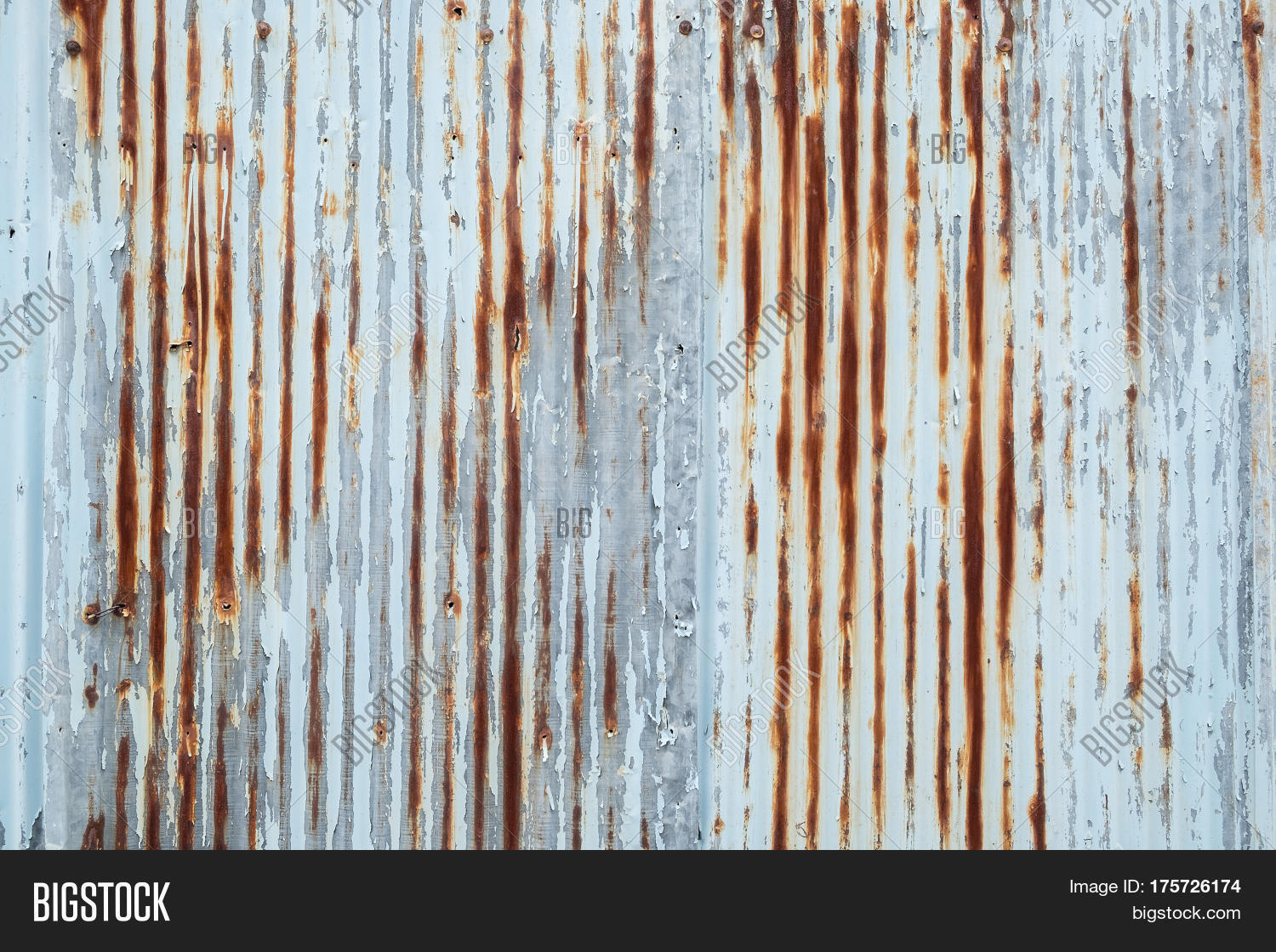 Old Metal Sheet Roof Texture Image Amp Photo Bigstock