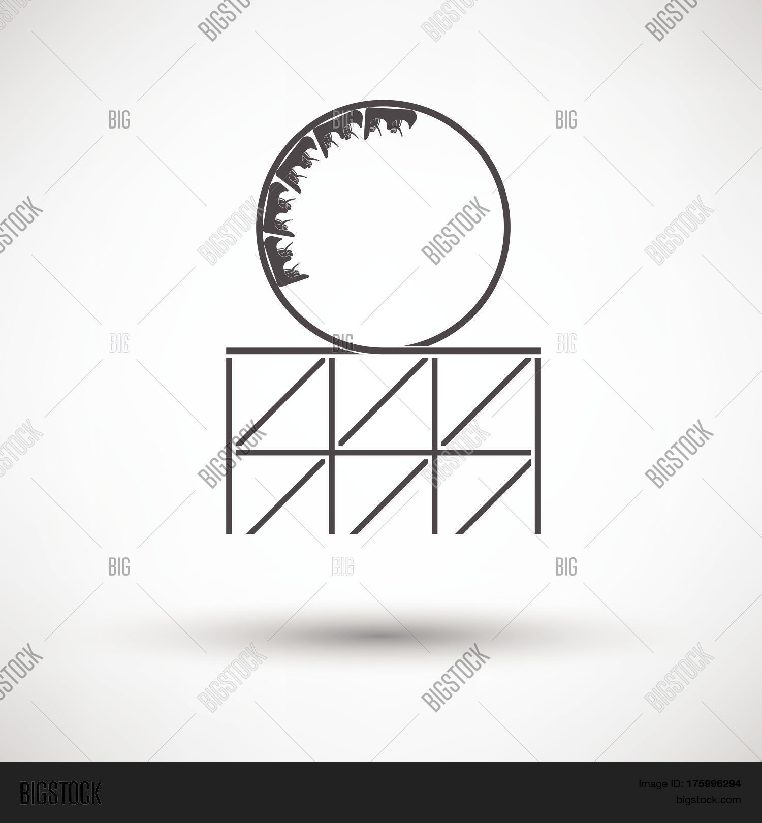 Roller Coaster Loop Vector Photo Free Trial Bigstock Rollercoaster Diagram Icon