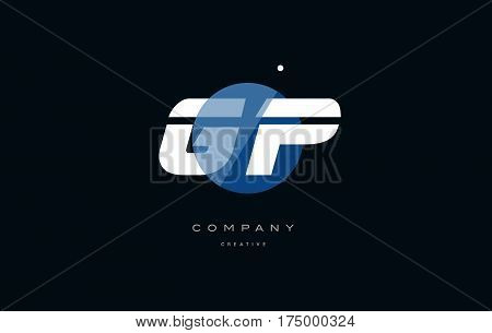 Gp G P  Blue White Circle Big Font Alphabet Company Letter Logo