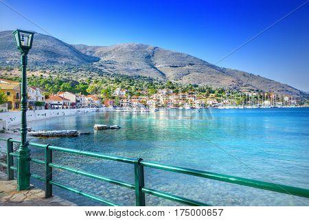 Coast of Kefalonia island in Agia Efimia village, Greece