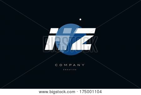 Hz H Z  Blue White Circle Big Font Alphabet Company Letter Logo