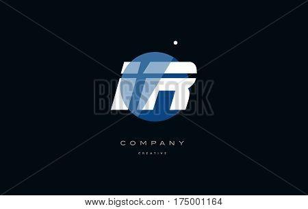 Ir I R  Blue White Circle Big Font Alphabet Company Letter Logo