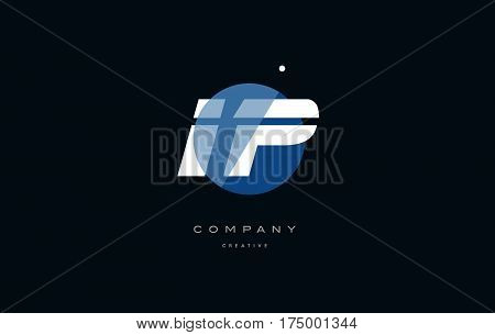 Ip I P  Blue White Circle Big Font Alphabet Company Letter Logo