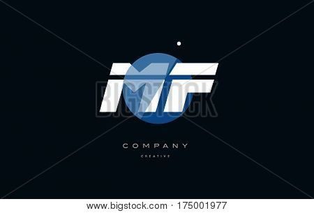 Mf M F  Blue White Circle Big Font Alphabet Company Letter Logo