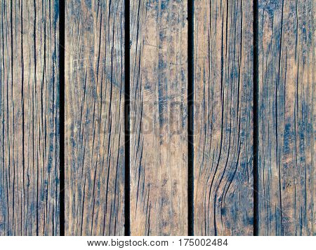 Toned wood texture with vertical lines. Warm brown wooden background for natural banner. Timber texture closeup. Vertical wooden planks of floor backdrop photo. Natural material for banner template