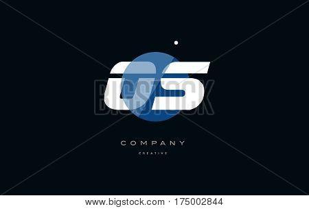 Os O S  Blue White Circle Big Font Alphabet Company Letter Logo
