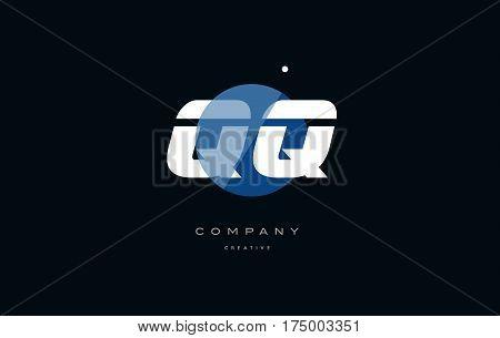 Qq Q Q  Blue White Circle Big Font Alphabet Company Letter Logo