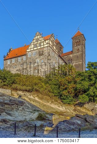 View of castle and church in Quedlinburg Germany