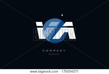 Va V A  Blue White Circle Big Font Alphabet Company Letter Logo