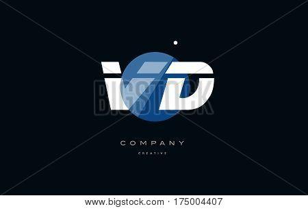 Vd V D  Blue White Circle Big Font Alphabet Company Letter Logo