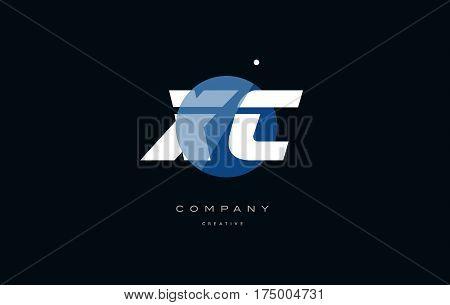Xc X C  Blue White Circle Big Font Alphabet Company Letter Logo