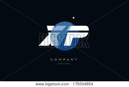 Xp X P  Blue White Circle Big Font Alphabet Company Letter Logo