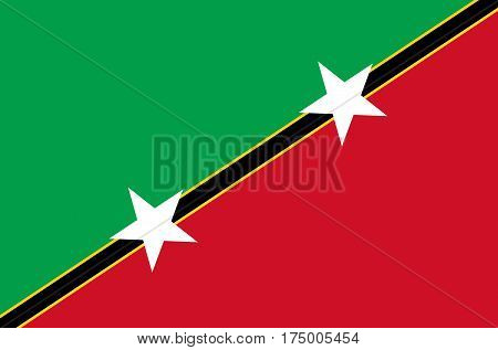 Illustration of the flag of Saint Kitts and Nevis