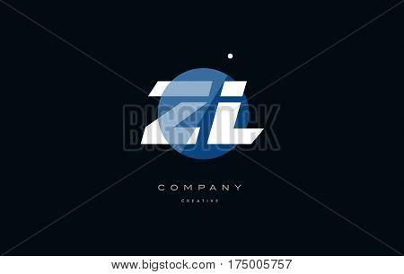 Zl Z L  Blue White Circle Big Font Alphabet Company Letter Logo