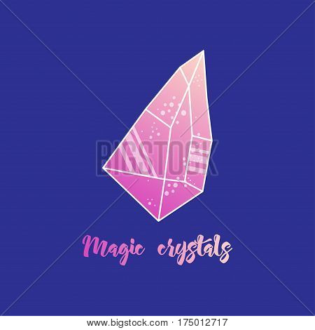 Magic crystals of pyramidal shape. Tribal precious stones with trend gradients. poster