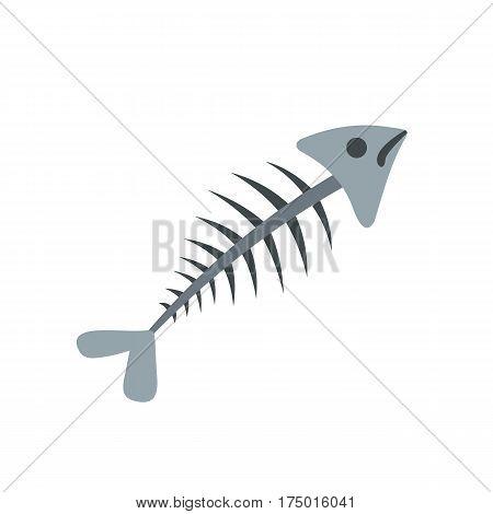 Fish bone icon isolated on white background vector illustration