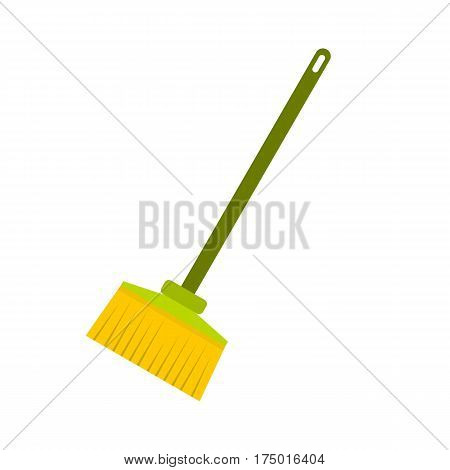 Broom icon isolated on white background vector illustration