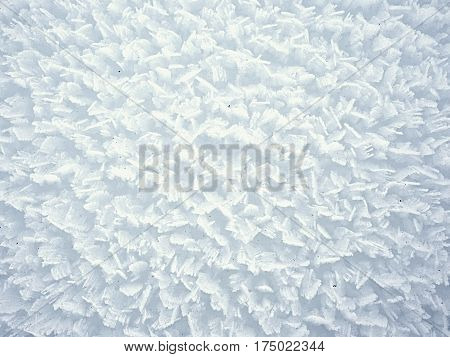 Stucture Of Crystal Snow Surface From Very Close Distance.