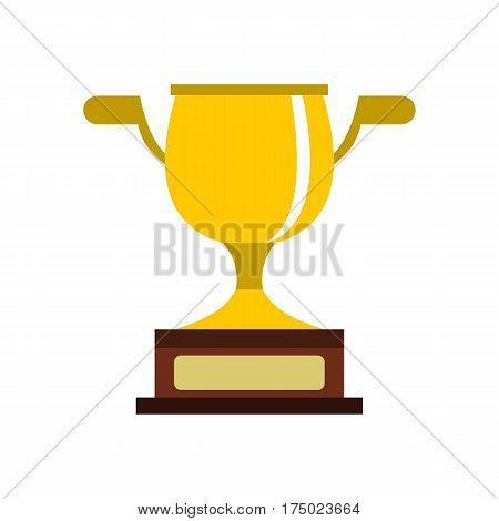 Gold cup icon in flat style isolated on white background vector illustration