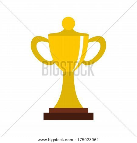 Championship cup icon in flat style isolated on white background vector illustration