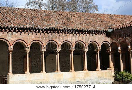 Cloister Of An Ancient Abbey On San Zeno Basilica In Verona Ital