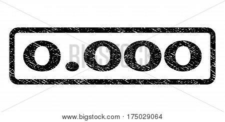 0.000 watermark stamp. Text tag inside rounded rectangle with grunge design style. Rubber seal stamp with dirty texture. Vector black ink imprint on a white background.