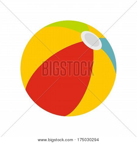 Beach ball icon isolated on white background vector illustration