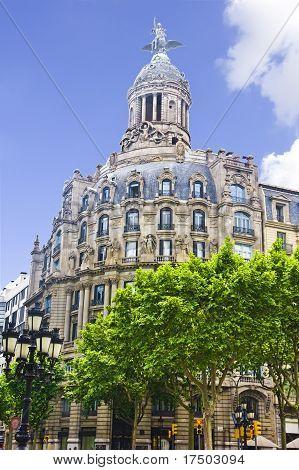 Building in Passeig de Gracia Barcelona Spain poster