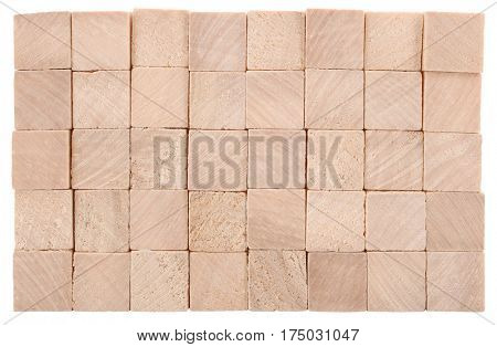 Wooden blocks made of natural wood