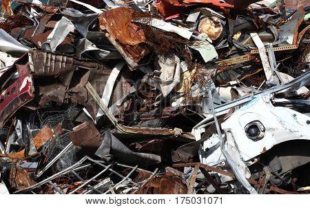 Scrap metal pile