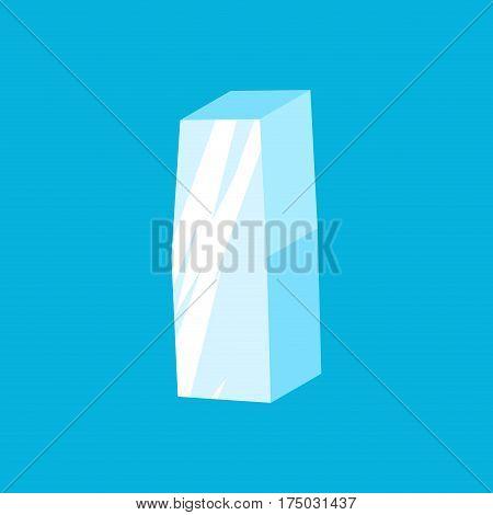 Letter I Ice Font. Icicles Alphabet. Freeze Lettering. Iceberg Abc Sign
