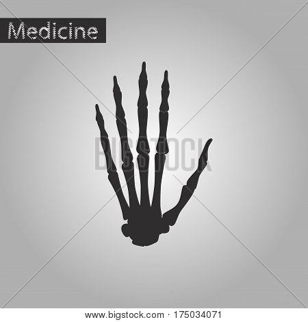 black and white style icon of wrist bone