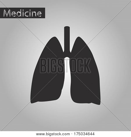 black and white style icon of lungs and trachea