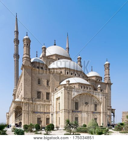 The great Mosque of Muhammad Ali Pasha (Alabaster Mosque) situated in the Citadel of Cairo Egypt commissioned by Muhammad Ali Pasha 1830 - 1848. Considered as one of the landmarks of Cairo
