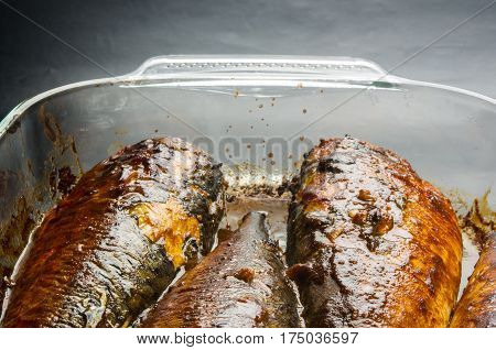 Mackerel, Baked In A Glass Container