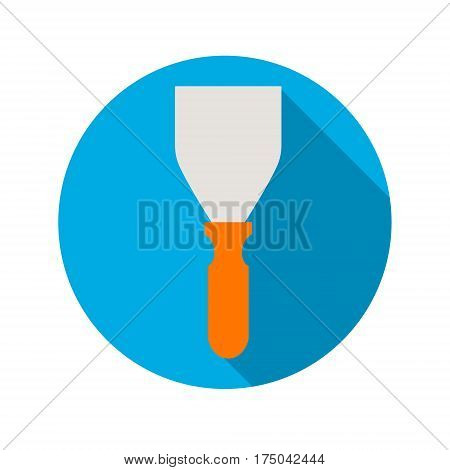 spatula on a blue background with shadow