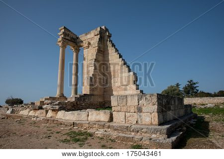 Ruins of the ancient Apollo Hylates sanctuary and temple Cyprus