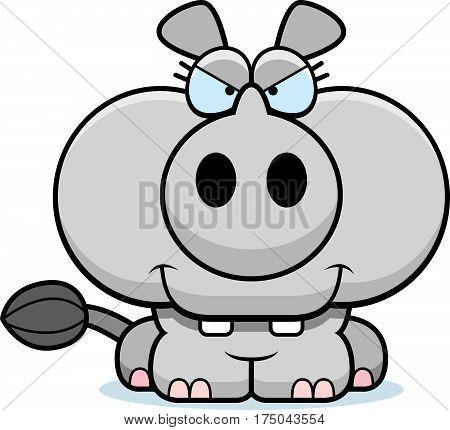 Cartoon Devious Rhinoceros