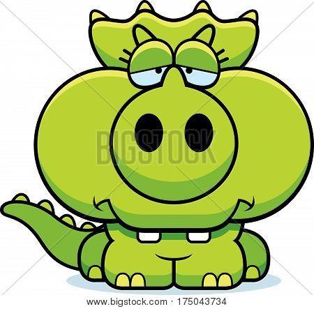 Cartoon Sad Triceratops