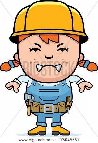 Angry Builder Girl