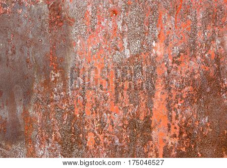 Rusty and corroded metal surface. Grungy texture and background.