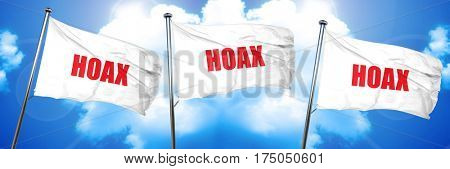 hoax, 3D rendering, triple flags