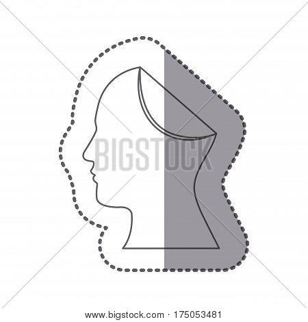 figure papper human icon, vector illustraction design image